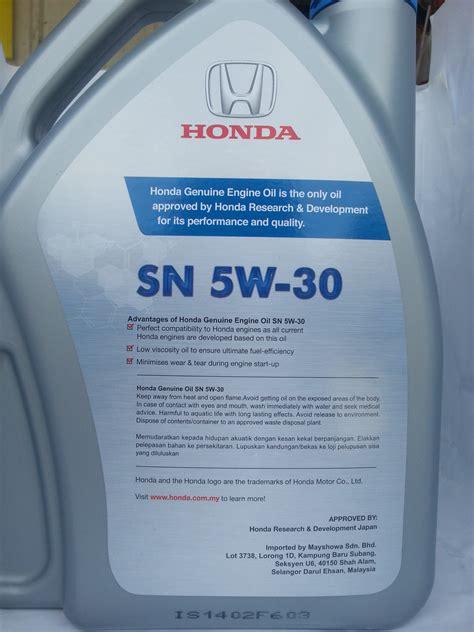 Toyota Semi Synthetic Engine Honda Engine Sn 5w 30 Semi Synthetic 4 Liter