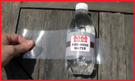 How To Make Waterproof Paper - how to cheaply waterproof water bottle labels diy tutorial