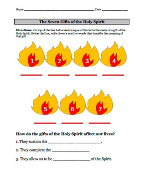 seven gifts of the holy spirit video amp worksheet this is