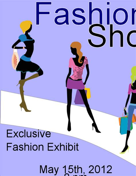 templates for fashion show flyers fashion show flyers fashion show flyer zazzlecom fashion