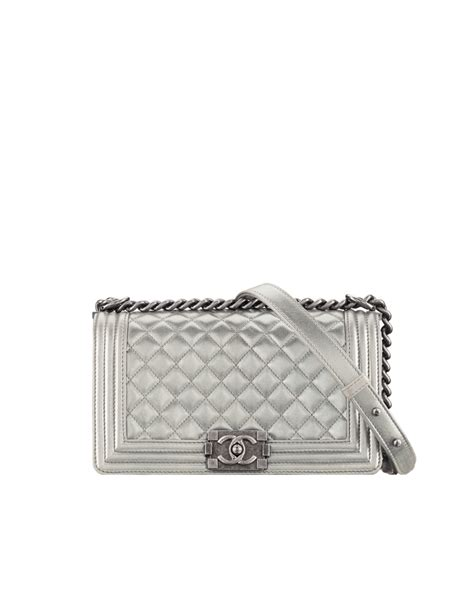 Metallic In The Summer by Chanel Metallic Patent Boy Bag Reference Guide And New