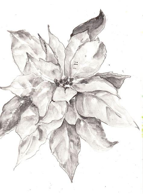 poinsettia tattoo sketch wash pencils halcomb s