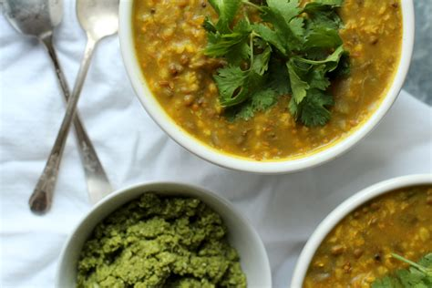 Ayurvedic Mung Bean Detox by Recipe Box Healing Kitchari Cilantro Coconut Chutney
