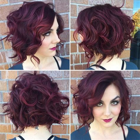 hairstyles and color for short curly hair 6 best curly wavy stacked haircuts for short hair 2017