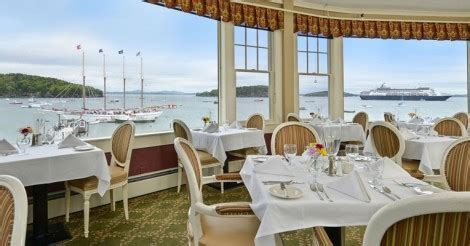 the reading room bar harbor reading room restaurant opening day dinner only bar harbor inn spa resort
