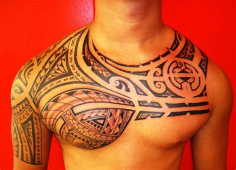 tattoo tribal chest polynesian tattoos designs ideas and meaning tattoos