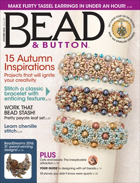 bead and button magazine october 2016 resource guide facet jewelry