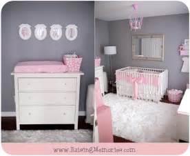 raising memories pink and gray baby nursery