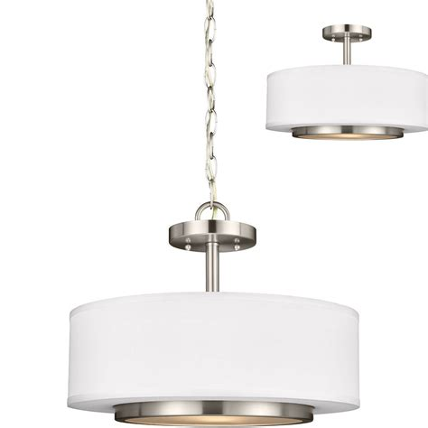 Seagull 7728002en 962 Nance Contemporary Brushed Nickel Overhead Ceiling Lights