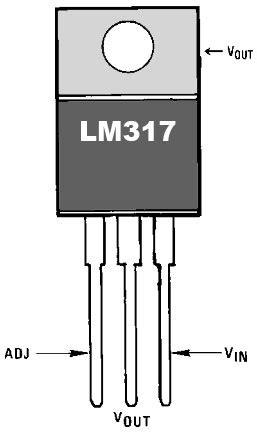transistor lm317 all pinout lm317 pinout