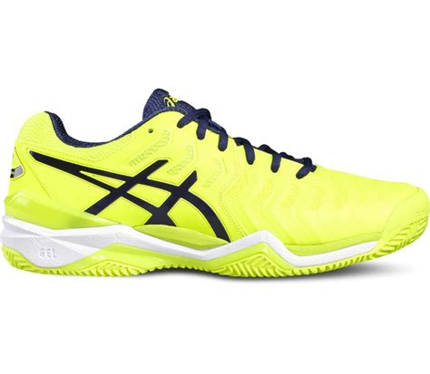 asics gel resolution 7 clay s tennis shoes yellow