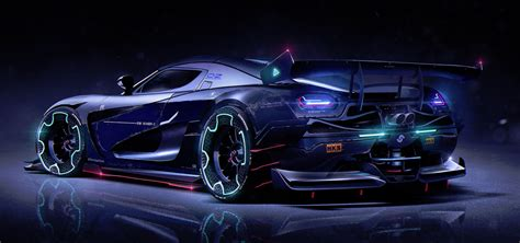 tron koenigsegg digital artist creates amazing futurist car concepts