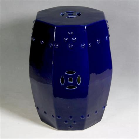Cobalt Blue Garden Stool octagonal cobalt blue garden stool accent and garden stools chicago by and june