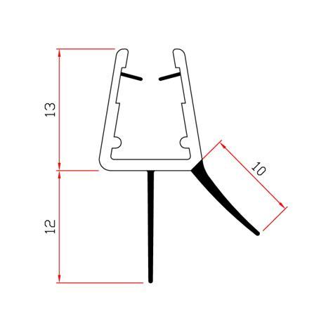 guarnizione vetro doccia guarnizione box doccia con gocciolatoio vetro 6mm 8mm ec 204
