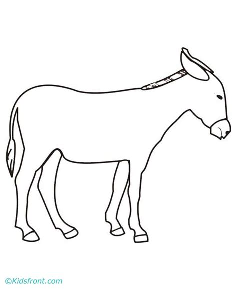 donkey face coloring page donkey face drawing