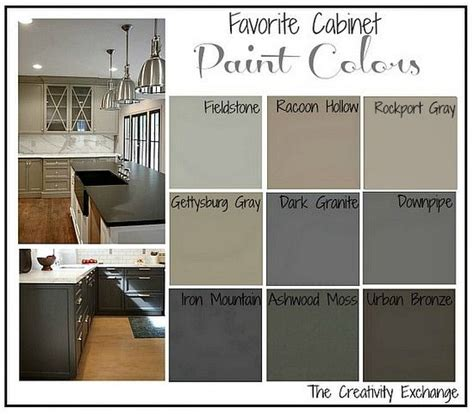 Best Colors To Paint Kitchen Cabinets Favorite Kitchen Cabinet Paint Colors Paint Colors Creativity And Painting Oak Cabinets