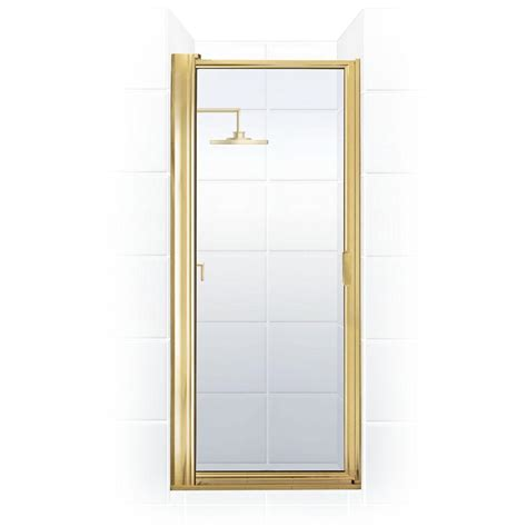 Gold Shower Doors Coastal Shower Doors Paragon Series 24 In X 69 5 8 In Framed Maximum Adjustment Pivot Shower