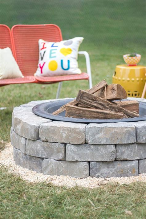 diy easy pit 31 diy outdoor fireplace and firepit ideas diy