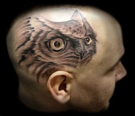 tattoo owl head large image leave comment