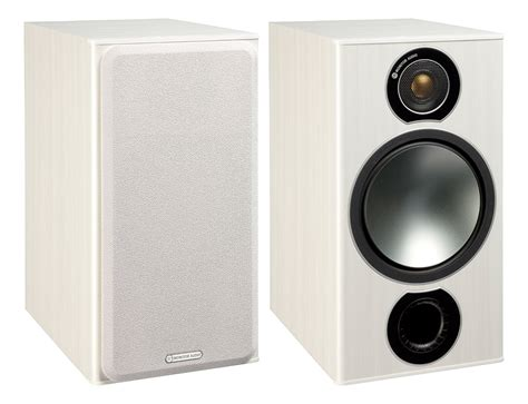 monitor audio bronze 2 white ash bookshelf speakers pair