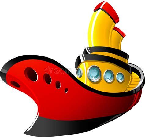 cartoon tug boat tugboat cartoon cartoon simplepict