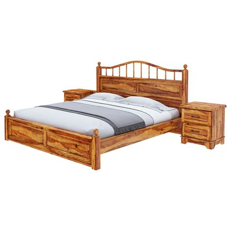 Solid Wood Platform Bed Frame Colonial Rail Top Solid Wood King Size Platform Bed Frame