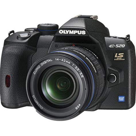 Olympus E 520 SLR Digital Camera Kit with 14 42mm Lens 262086
