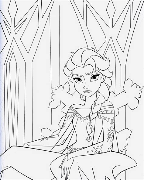 disney  princesses frozen printable coloring pages