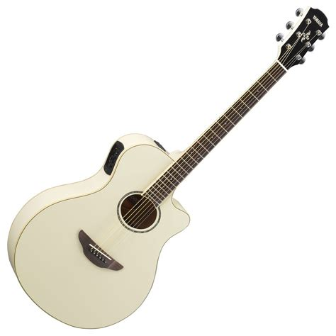 Yamaha Apx600 yamaha apx600 electro acoustic vintage white at gear4music