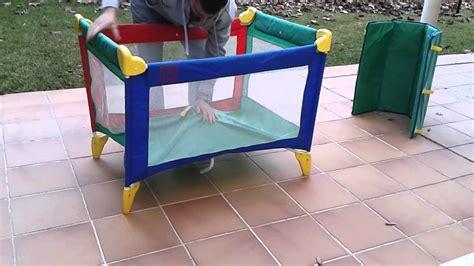cuna parque infantil tutorial para montar cuna de viaje youtube