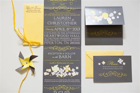 Wedding Invitations Yellow And Grey by Country Yellow Themed Wedding Rustic Wedding Chic