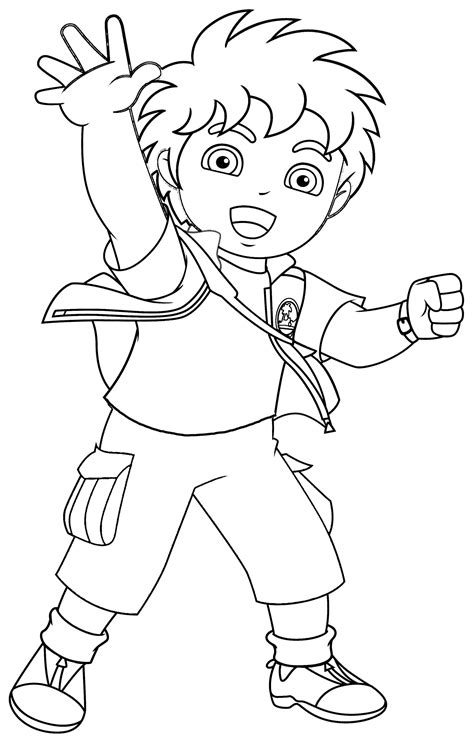 printable coloring pages for kids free printable diego coloring pages for kids