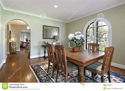 dining room  green walls royalty  stock image