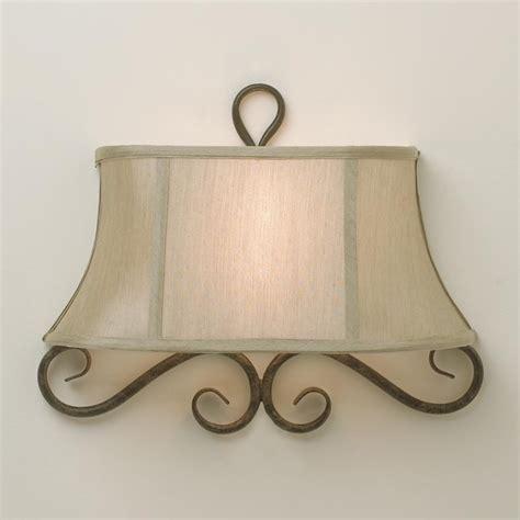 Wall Sconce Half Shades half shade iron scroll sconce l shades by shades of