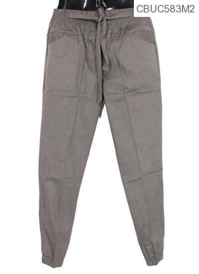 Celana Hana Polos Coklat Aladin Joger Panjang celana joger katun stretch celana rok muslim murah batikunik