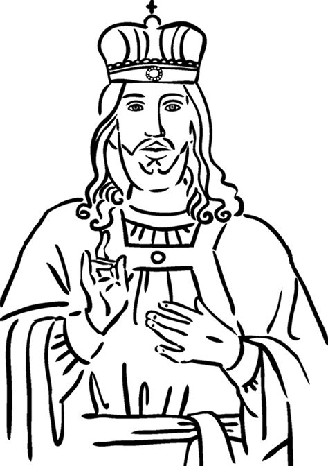 the king coloring pages crown him king coloring page