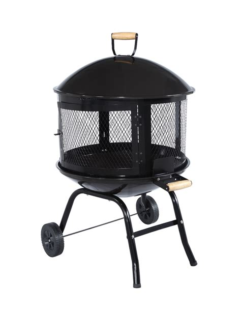 New Fire Pit On Wheels Outdoor Portable Fire Pit Add