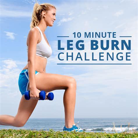 10 minute fitness challenge 10 minute leg burn challenge