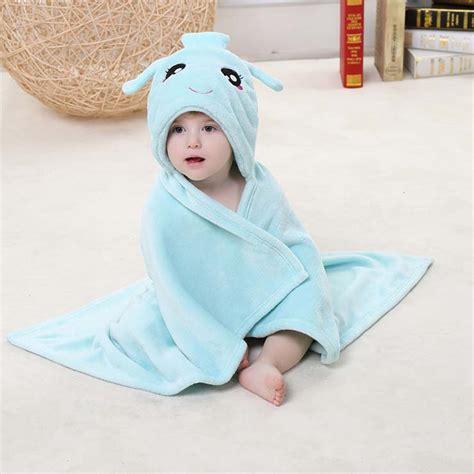light blue flannel aquarius baby hoodie blanket n10385