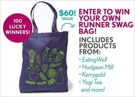 Eating Well Magazine Sweepstakes - eatingwell swag bag giveaway 100 winners