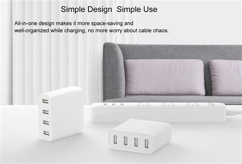 Original 35 Menit Travel Charger Usb Fast Charge 3 0 Wellcomm original xiaomi mi usb charger 4 ports 19 10