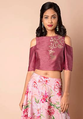 blending short layered crown with cold f usion indo western dresses buy fusion wear for women online