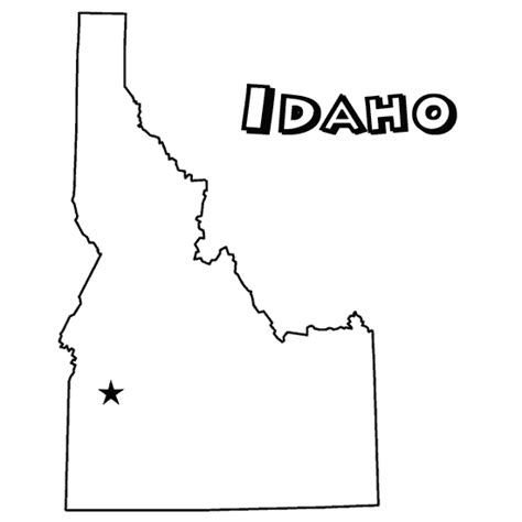 Galerry idaho state flower coloring page