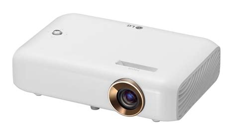 best battery powered mini mobile projector lg minibeam led projector ph550 review rating pcmag