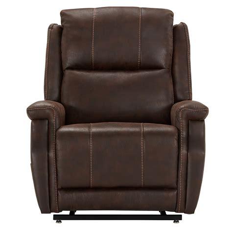 recliner city city furniture jude dk brown microfiber power lift recliner