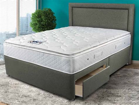 compare beds comfort sleepeezee memory comfort 1000 pillow top pocket divan bed