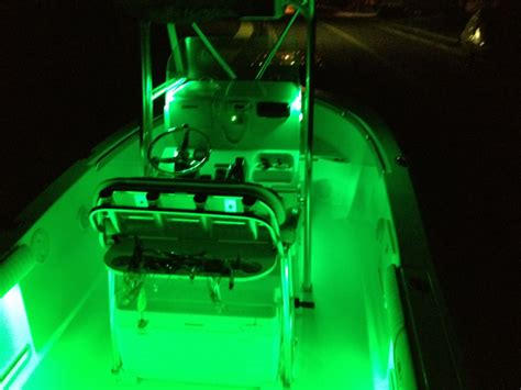 boat gunwale lights quot under gunwale quot style led lighting on 2 pc center consoles