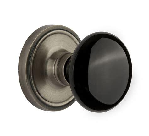 nostalgic warehouse black porcelain knob with classic
