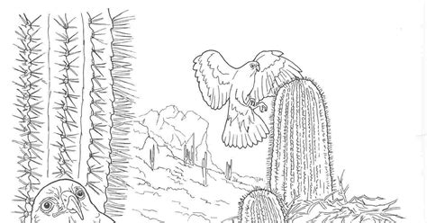coloring worksheet of desert plants coloring pages