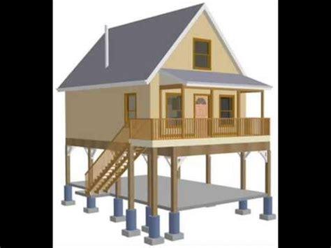 raised aspen cabin design plan youtube